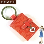 COACH(コーチ) キーホルダー ミニ シグネチャー ピクチャー フレーム キーフォブ 92322 レッド