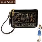 COACH(コーチ) バッグ ポピー パテント リストレット ブラック 42868