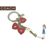 Coach(コーチ) キーホルダー ロック アンド キー マルチ エナメル キーフォブ 92244