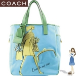 Coach(コーチ) トートバッグ ボニー キャンバス ブルー 13383