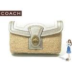 Coach(コーチ) バッグ ストロー ポーチ リストレット ホワイト 42530