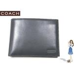 Coach(コーチ) 2つ折り財布 イングリッシュ ブライドル パスケース ID ウォレット ブラック S6485