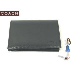 90d75ecb609a ... Coach(コーチ) 2つ折り財布 イングリッシュ ブライドル コンパクト ID ブラック S6486 ...