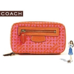 Coach(コーチ) ジュエリーポーチ オプ アート プリント ピンク 60369
