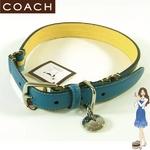 Coach(コーチ) ドッグカラー ストライプ 首輪 ブルー 60407