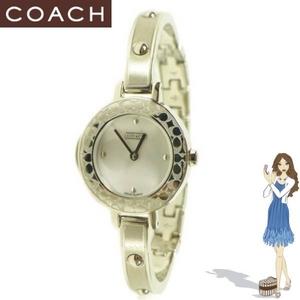 Coach(コーチ) 腕時計 ブリジッド ステンレス スティール バングル ウォッチ 14500985