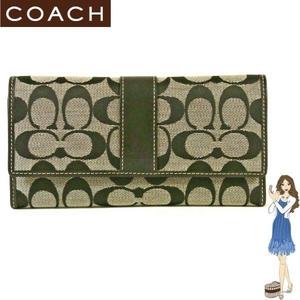 Coach(コーチ) 3つ折り長財布 シグネチャー チェックブック ブラック 41878