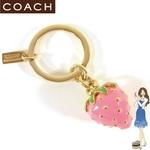 Coach(コーチ) キーホルダー ストロベリー キーフォブ 92470