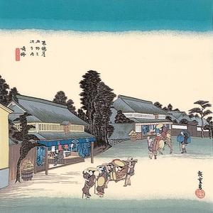【箱入り】■日本製高級風呂敷■丹後ちりめん浮世絵風呂敷[二巾]■鳴海■