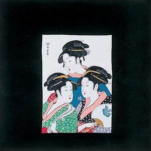 【箱入り】■日本製高級風呂敷■丹後ちりめん浮世絵風呂敷[二巾]■三人美人■
