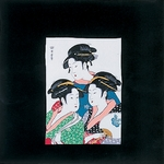 ■日本製高級風呂敷■丹後ちりめん浮世絵風呂敷[二巾]■三人美人■