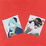 ■日本製高級風呂敷■丹後ちりめん浮世絵風呂敷[二巾]■二人美人■
