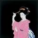 【箱入り】■日本製高級風呂敷■丹後ちりめん浮世絵風呂敷[二巾]■かんざし■ 写真1