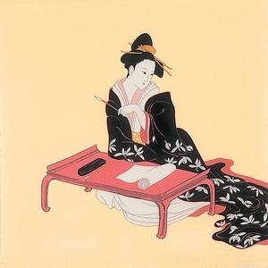 【箱入り】■日本製高級風呂敷■丹後ちりめん浮世絵風呂敷[二巾]■六歌仙美人■