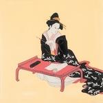 ■日本製高級風呂敷■丹後ちりめん浮世絵風呂敷[二巾]■六歌仙美人■