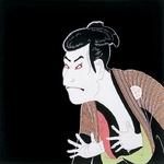 ■日本製高級風呂敷■丹後ちりめん浮世絵風呂敷[二巾]■写楽■