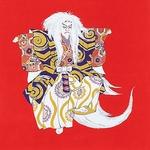 【箱入り】■日本製高級風呂敷■丹後ちりめん浮世絵風呂敷[二巾]■鏡獅子■
