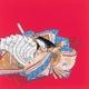 【箱入り】■日本製高級風呂敷■丹後ちりめん浮世絵風呂敷[二巾]■百人一首■ 写真1