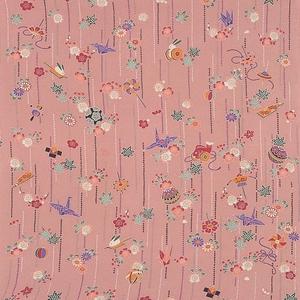 【箱入り】■日本製高級風呂敷■はいからもだん友仙ふろしき[二巾]■一目絞り玩具(ピンク)■