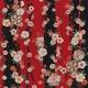 【箱入り】■日本製高級風呂敷■はいからもだん友仙ふろしき[二巾]■立取り花くす玉(赤)■ 写真1