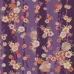 【箱入り】■日本製高級風呂敷■はいからもだん友仙ふろしき[二巾]■立取り花くす玉(紫)■