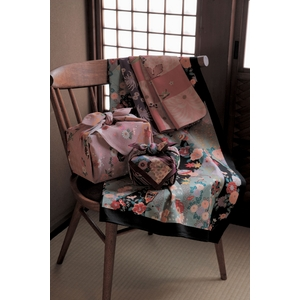 ■日本製高級風呂敷■はいからもだん友仙ふろしき[二巾]■立取り花くす玉(紫)■