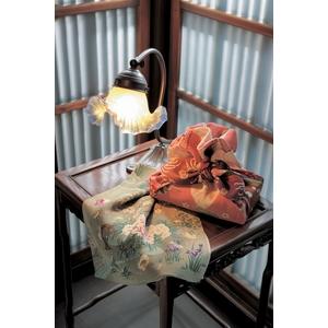 ■日本製高級風呂敷■はいからもだん友仙ふろしき[二巾]■雪輪重ねに菊花文様(赤)■