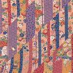 <br />日本製高級風呂敷■はいからもだん友仙ふろしき[二巾]■斜め寄せ裂(紫と青)■
