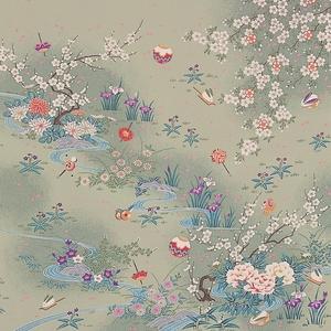 【箱入り】■日本製高級風呂敷■はいからもだん友仙ふろしき[二巾]■流水花音(利久)■