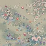 ■日本製高級風呂敷■はいからもだん友仙ふろしき[二巾]■流水花音(利久)■