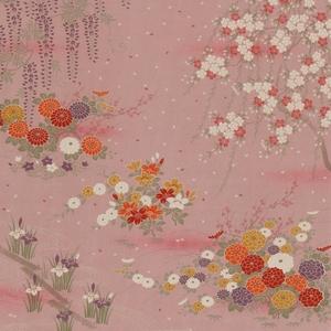 【箱入り】■日本製高級風呂敷■はいからもだん友仙ふろしき[二巾]■霞花模様(ピンク)■