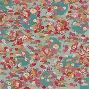 【箱入り】■日本製高級風呂敷■はいからもだん友仙ふろしき[二巾]■雪輪に鞠と花尽くし(セイジ)■
