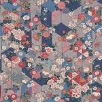 ■日本製高級風呂敷■はいからもだん友仙ふろしき[二巾]■矢絣散花(紺)■