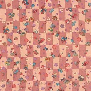 【箱入り】■日本製高級風呂敷■はいからもだん友仙ふろしき[二巾]■貝合わせに桜散らし(ピンク)■