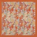 ■日本製高級風呂敷■はいからもだん綿大ふろしき■斜め裂花尽くし(オレンジ)■