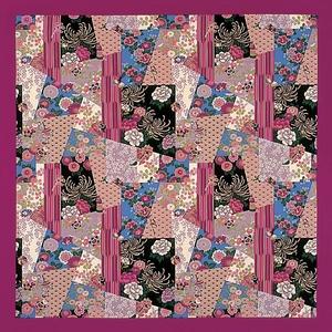 【箱入り】■日本製高級風呂敷■はいからもだん綿大ふろしき■寄裂古布(紫)■