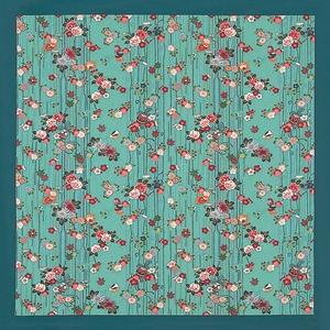 【箱入り】■日本製高級風呂敷■はいからもだん綿大ふろしき■よろけ絞り散花(ブルー)■