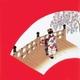 【箱入り】■日本製高級風呂敷■丹後ちりめん浮世絵風呂敷[二巾]■舞妓■ 写真1