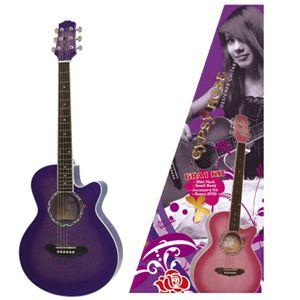 GYPSYROSE(ジプシーローズ) レディース用 アコースティックギターセット GRA1K シャンパンブラック