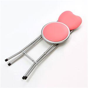 ハート型折畳イス ピンク