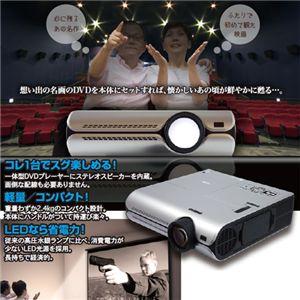 クマザキエイム 60インチスクリーン付きDVD内蔵LEDプロジェクターセット NRT-350S