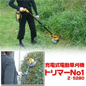 【訳あり・箱潰れ】充電式電動草刈機 トリマーNo1 Z-5280