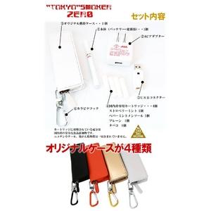 【電子タバコ】トウキョウスモーカー(東京スモーカー)ゼロ TS-ZERO本体+ケース(白)セット