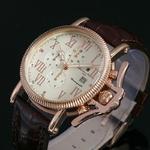 【Salvatore Marra】レトログラードクロノグラフ腕時計 SM6018-PGWH