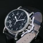 【Salvatore Marra】レトログラードクロノグラフ腕時計 SM6018-BK