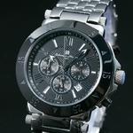 【Salvatore Marra】クロノグラフ腕時計 SM7019-BK