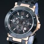 【Salvatore Marra】クロノグラフ腕時計 SM7019-PGBK