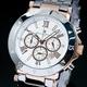 【Salvatore Marra】クロノグラフ腕時計 SM7019-PGWH 写真1