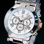 【Salvatore Marra】クロノグラフ腕時計 SM7019-PGWH