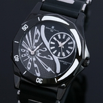 【Salvatore Marra】 デュアルタイム腕時計 SM8007-BK  ¥10,500−